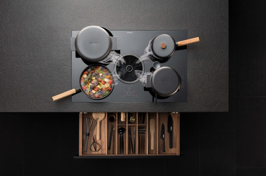 BORA Basic - Kochzone mit Stauraum black